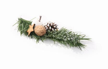 Pik 1 - gałązka z ozdobami świątecznymi 20 cm
