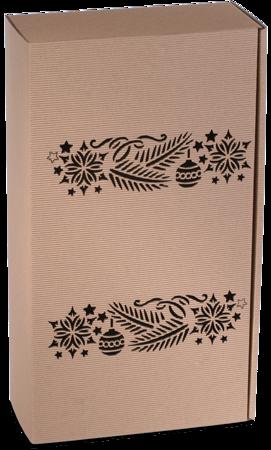 Pudełko prezentowe EKO Kraft 8 36x20x9,5 cm - GAŁĄZKI