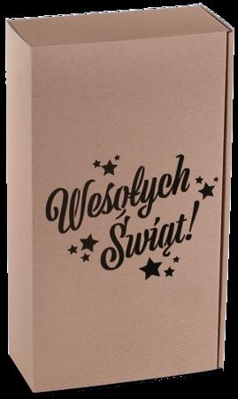 Pudełko prezentowe EKO Kraft 8 36x20x9,5 cm - WESOŁYCH ŚWIĄT