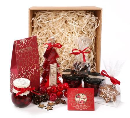 Zestaw prezentowy ze świąteczną Nalewką Wawelską